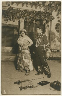 Rosario Guerrero as Carmen and M. Volbert as Don José in the ballet 'Carmen', published by Raphael Tuck & Sons - NPG Ax160471