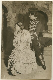 Rosario Guerrero as Carmen and M. Volbert as Don José in the ballet 'Carmen', published by Raphael Tuck & Sons - NPG Ax160472