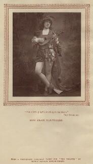 Grace Hawthorne, by Ernest Barraud, published by  Strand Publishing Company - NPG x17453