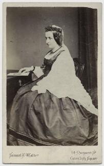 Elizabeth Georgiana (née Sutherland-Leveson-Gower), Duchess of Argyll, by Samuel Alexander Walker, 1860s - NPG x15591 - © National Portrait Gallery, London