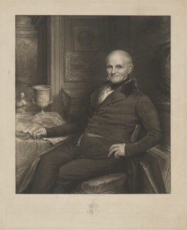 Joseph Strutt, by John Linnell, published by  Moseley & Nephew - NPG D42093