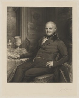 Joseph Strutt, by John Linnell, published by  Moseley & Nephew - NPG D42094