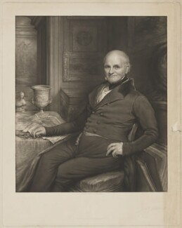 Joseph Strutt, by John Linnell, published by  Moseley & Nephew - NPG D42095