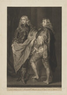 Lord John Stuart; Lord Bernard Stuart, by James Macardell, after  Sir Anthony van Dyck - NPG D42096