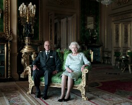 Prince Philip, Duke of Edinburgh; Queen Elizabeth II, by Thomas Struth - NPG P1665