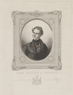 Lord Dudley Coutts Stuart, by Anton Oleszczynski, printed by  P. Dien, after  Sir George Hayter, 1837 - NPG D42098 - © National Portrait Gallery, London