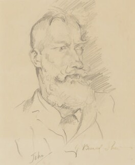 George Bernard Shaw, by Augustus John, circa 1915 - NPG  - © estate of Augustus John / Bridgeman Art Library www.bridgemanart.com
