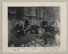 'Six Unionist Whips on the Terrace of the House of Commons', by Benjamin Stone - NPG x134986