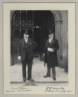 Sir Ernest Francis Swan Flower; Harry Hananel Marks, by Benjamin Stone - NPG x134988