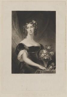 Henrietta Maria Sarah Stuart, by Samuel William Reynolds, published by  Colnaghi, Son & Co, after  Christina Robertson (née Saunders) - NPG D42104