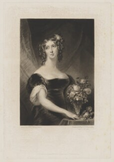 Henrietta Maria Sarah Stuart, by Samuel William Reynolds, published by  Colnaghi, Son & Co, after  Mrs J. Robertson - NPG D42105