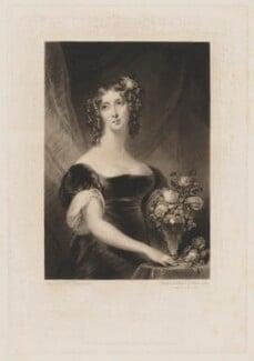 Henrietta Maria Sarah Stuart, by Samuel William Reynolds, published by  Colnaghi, Son & Co, after  Christina Robertson (née Saunders) - NPG D42105