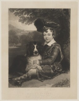 Master Stuart, by John Porter, published by  Martin Colnaghi, after  Luke Macartan - NPG D42106