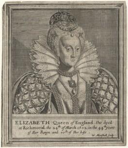 Queen Elizabeth I, by William Marshall - NPG D42187