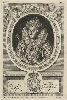 Queen Elizabeth I, by Robert White, published by  Richard Chiswell - NPG D42188