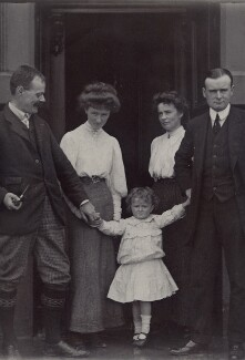 H.H. Munro ('Saki') and members of his family, by Unknown photographer - NPG x134930