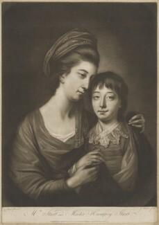 Mary Sturt; Humphrey Ashley Sturt, by James Watson, printed for  Robert Sayer, after  Katharine Read - NPG D42112