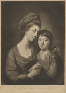Mary Sturt; Humphrey Ashley Sturt, by James Watson, printed for  Robert Sayer, after  Katharine Read - NPG D42113