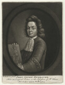 John Sturt, by and published by William Humphrey, after  William Faithorne Jr - NPG D42116