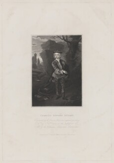 Thomas Osborne, 4th Duke of Leeds engraved as Prince Charles Edward Stuart, by Edward Scriven, published by  Charles Tilt, after  Hans Hysing - NPG D42119