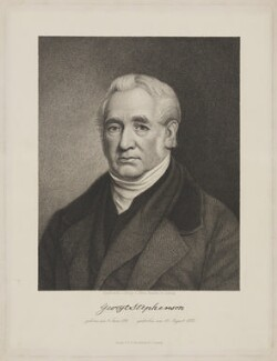 George Stephenson, by and published by Alfred Krausse, printed by  F.A. Brockhaus AG, 1848 or after - NPG D42126 - © National Portrait Gallery, London