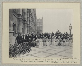'Visit of French Members of Parliament to the Houses of Parliament', by Benjamin Stone - NPG x135017