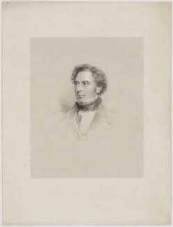 Robert Stephenson, by Francis Holl, after  George Richmond - NPG D42127