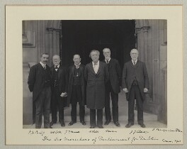 'The Six Members of Parliament for Dublin', by Sir (John) Benjamin Stone, May 1911 - NPG x135019 - © National Portrait Gallery, London
