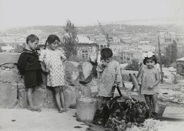 'Children washing wool in Yerevan', by Ida Kar - NPG x135021