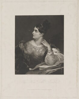Caroline Elizabeth Sarah Norton (née Sheridan, later Lady Stirling-Maxwell), by William Overend Geller, published by  Ackermann & Co, after  John Hayter - NPG D42147