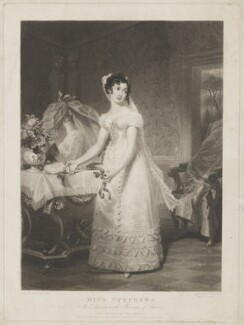 Catherine Capell-Coningsby (née Stephens), Countess of Essex as Susanna in the Marriage of Figaro, by Samuel William Reynolds, published by  William Sams, after  Henri Jean-Baptiste Victoire Fradelle - NPG D42151