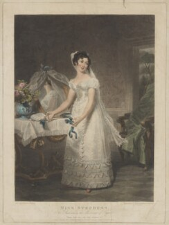 Catherine Capell-Coningsby (née Stephens), Countess of Essex as Susanna in the Marriage of Figaro, by Samuel William Reynolds, and by  Samuel Cousins, published by  William Sams, after  Henri Jean-Baptiste Victoire Fradelle - NPG D42153