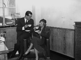 Ramon Novarro; (Elsie) Evelyn Laye, by Harold Tomlin, for  Daily Herald - NPG x135039