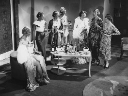 On the set of 'Mannequin' (group including Judy Kelly; Diana Beaumont; Anna Lee and Faith Bennett), by Leslie Cardew, for  Daily Herald - NPG x135045