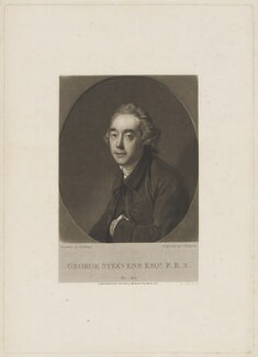 George Steevens, by Thomas Hodgetts, published for  John Samuel Murray, after  Johan Joseph Zoffany - NPG D42164