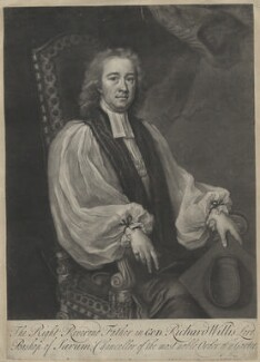 Richard Willis, by John Simon, sold by  Edward Cooper, after  Michael Dahl - NPG D42167