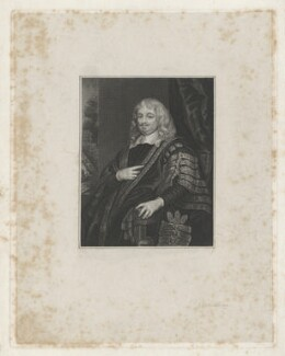 Edward Hyde, 1st Earl of Clarendon, by James Thomson (Thompson), after  Sir Peter Lely - NPG D41889