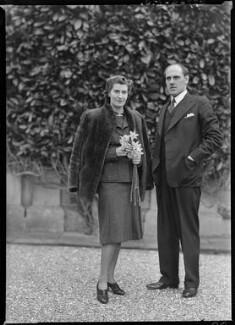 Hon. Elspeth Marjorie Jessie Hoare (née Weir); Richard Fairfax William Cartwright, by Bassano Ltd - NPG x177960