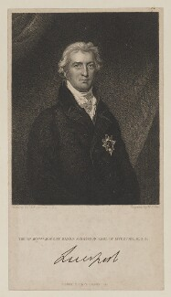 Robert Banks Jenkinson, 2nd Earl of Liverpool, by William Thomas Fry, published by  Fisher Son & Co, after  Sir Thomas Lawrence - NPG D41902