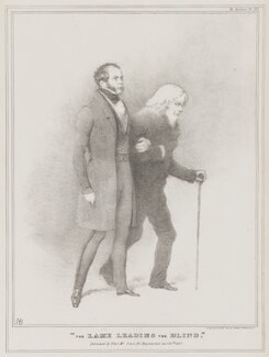 'The Lame Leading the Blind', by John ('HB') Doyle, printed by  Alfred Ducôte, published by  Thomas McLean - NPG D41112