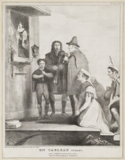 Un Tableau Vivant, by John ('HB') Doyle, printed by  Alfred Ducôte, published by  Thomas McLean - NPG D41117