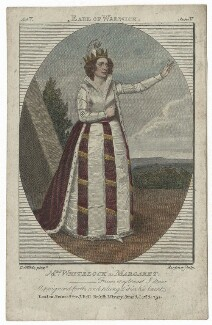 Elizabeth Whitlock (née Kemble), by Philipp Audinet, published by  John Bell, after  Samuel De Wilde - NPG D41913