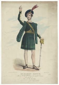 Henry Thomas Betty as Macbeth, by F. Onwhyn, printed by  Hurst, published by  Joseph Onwhyn, circa 1844-1854 - NPG  - © National Portrait Gallery, London