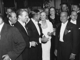 The opening night of 'The Private Life of Henry VIII' (group including Douglas Fairbanks Jr and Noël Coward), by George Woodbine, for  Daily Herald - NPG x135049