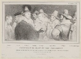 Conspiracy to Blow Up the Parliament, by John ('HB') Doyle, printed by  Alfred Ducôte, published by  Thomas McLean, published 4 April 1832 - NPG D41124 - © National Portrait Gallery, London