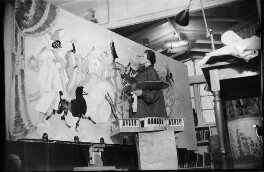 Doris Zinkeisen working on the panels for the Grill Room of the Queen Mary, by Harold Tomlin, for  Daily Herald - NPG x135105