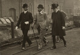 King George V walking to Silverwood Colliery, by Illustrated News - NPG x134968