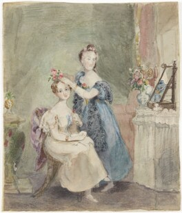 Two unknown sitters, probably by Sir William Charles Ross - NPG D42227