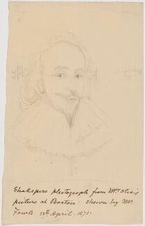 William Shakespeare, by Sir George Scharf, after  Unknown artist - NPG D41915