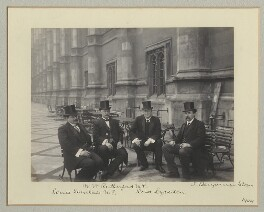 Group on the Terrace of the House of Commons, by Benjamin Stone - NPG x135131